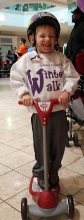 Ryan ready to start the Winter Walk!